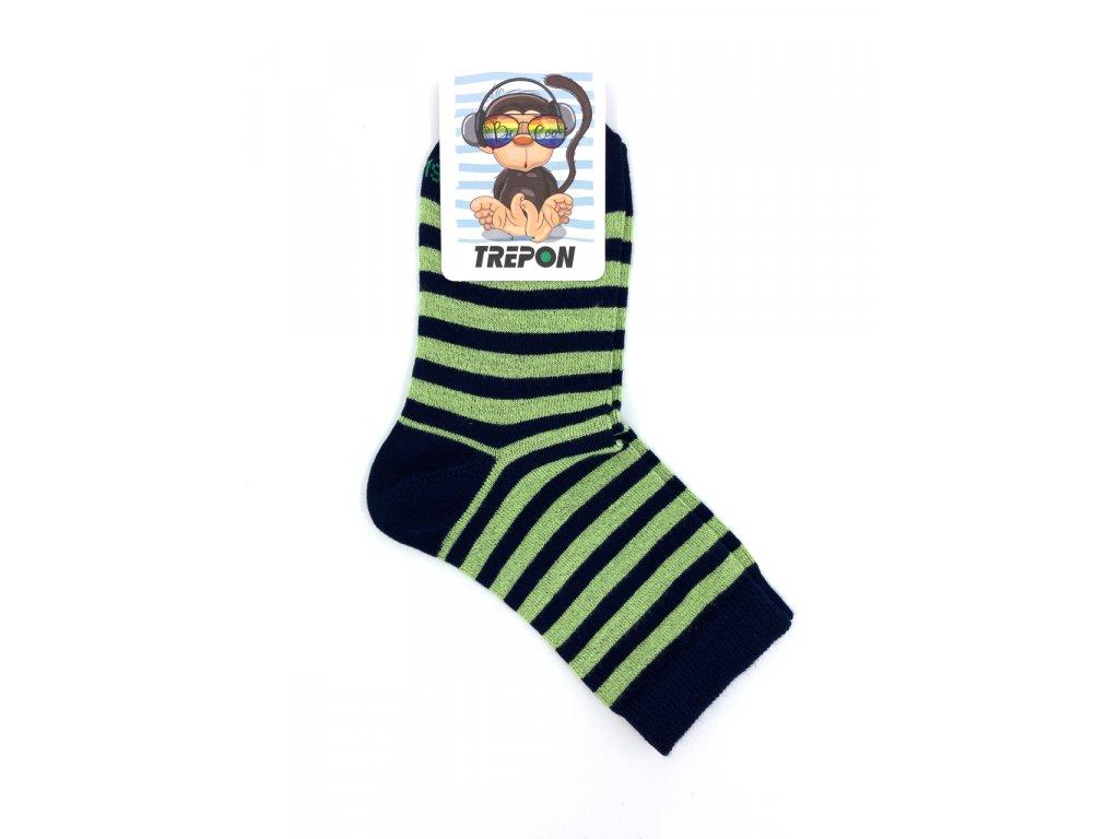 Bambusové ponožky Trepon BABAR zelené