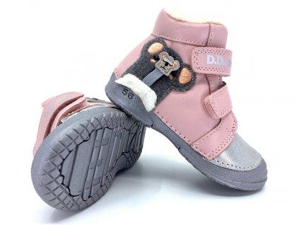 Dívčí zimní boty DD Step W038 865 Baby Pink