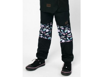 Drexiss zimni softshellove kalhoty Black Moon Unicorns
