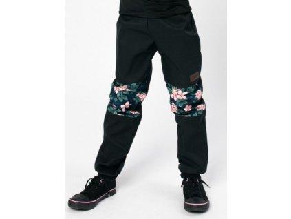 Drexiss sofshellove kalhoty black moon flowers