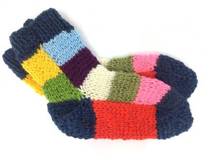 1 dětské pletené ponožky