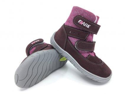Dívčí zimní barefoot boty Fare Bare 5441291