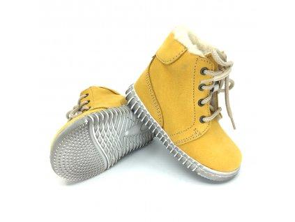 Zimní bosé Pegres E1705 žluté