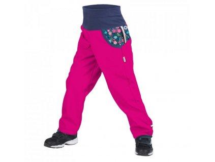 Dětské softshellové kalhoty UNUO květinky