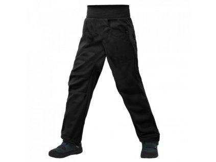 UNUO Softshellové kalhoty s fleecem COOL, Černá
