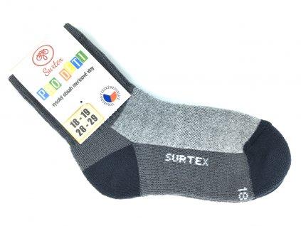 Ponožky Surtex zima Merino šedé