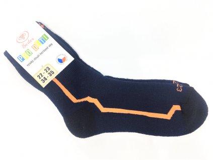 Dětské 95 merino ponožky Surtex zima tm.modré