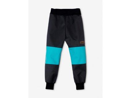 dětské softshellové kalhoty drexiss jaro podzim soft black blue