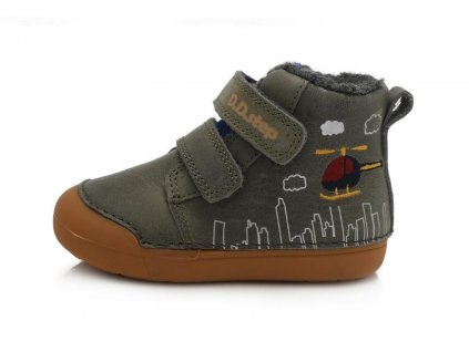 dětské zimní boty dd step 066 806A khaki
