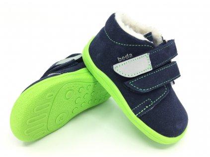 Zimní boty Beda barefoot Marcus kotníkové s membránou