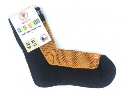 dětské merino ponožky surtex podzim oranžové