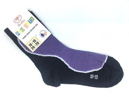 Dětské letní merino ponožky Surtex fialové