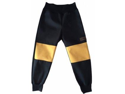 Drexiss Softshellové kalhoty jaro/podzim BLACK-MUSTARD