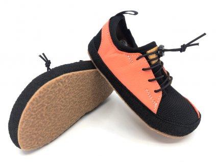 Barefoot tenisky Pegres BF33 lososová