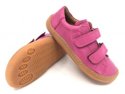 Barefoot tenisky Froddo Fuchsia kožené G3130176 7