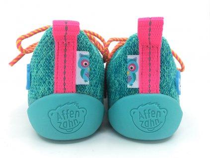 barefoot tenisky Affenzahn lowcut knit owl lace
