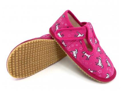 Beda barefoot bačkory růžový koník I