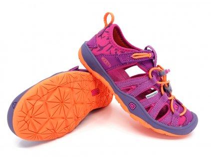 dětské sandále Keen Moxie Sandal Purple Wine Nasturium