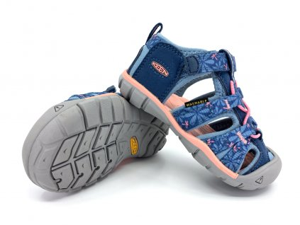 dětské sandále Keen Seacamp II CNX Real Teal Stone Blue