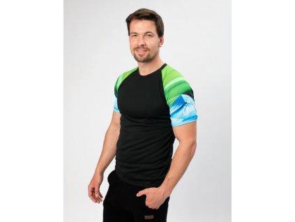 Drexiss panske funkcni tricko collmax kratky rukav shapes green blue