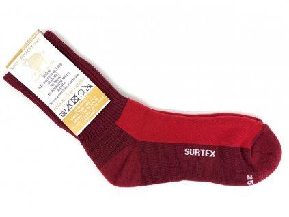 Ponožky Surtex 80% Merino VOLNÝ LEM Červené