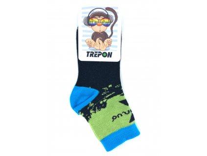 Bambusové ponožky UNUO by Trepon METRICON zelené