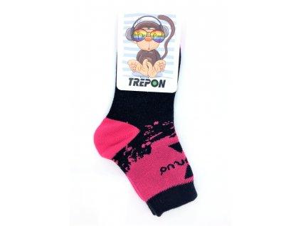 Bambusové ponožky UNUO by Trepon METRICON růžové