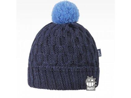 Merino čepice Dráče Vanto šedo modrá