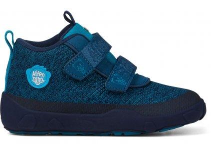 Affenzahn lowboot knit bear modré