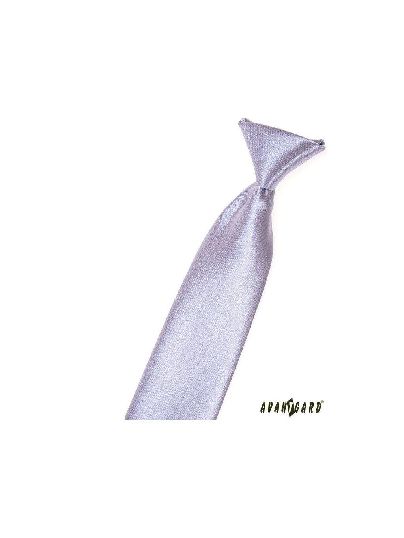 Velmi světle fialová dětská kravata na gumičku