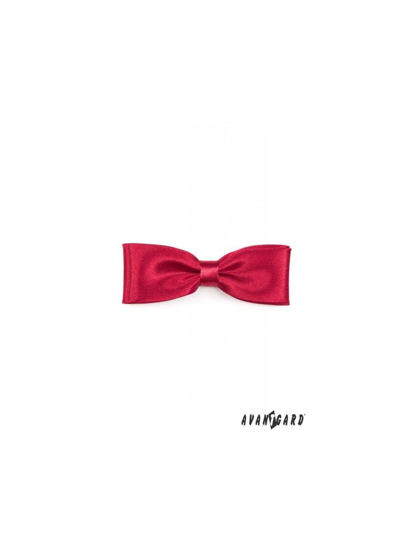 Červený motýlek + kapesníček do saka