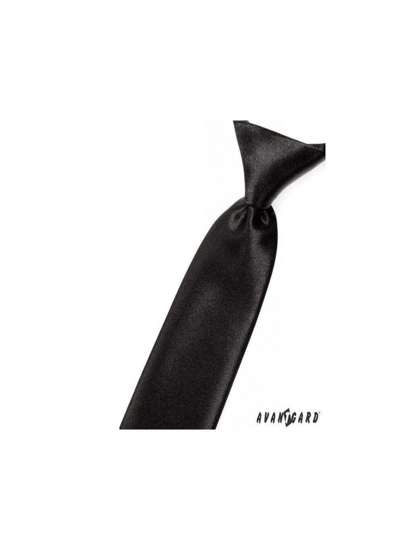 Černá dětská jemně lesklá kravata