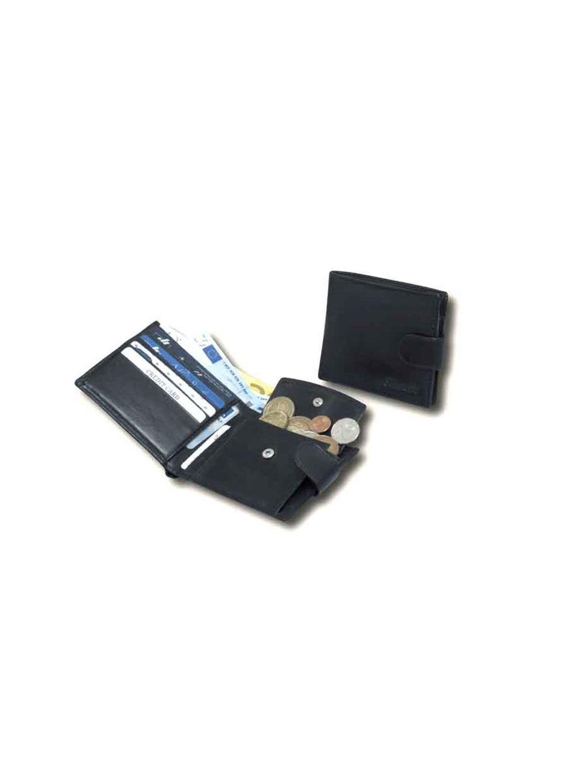 Černá kožená pánská peněženka (2311805)