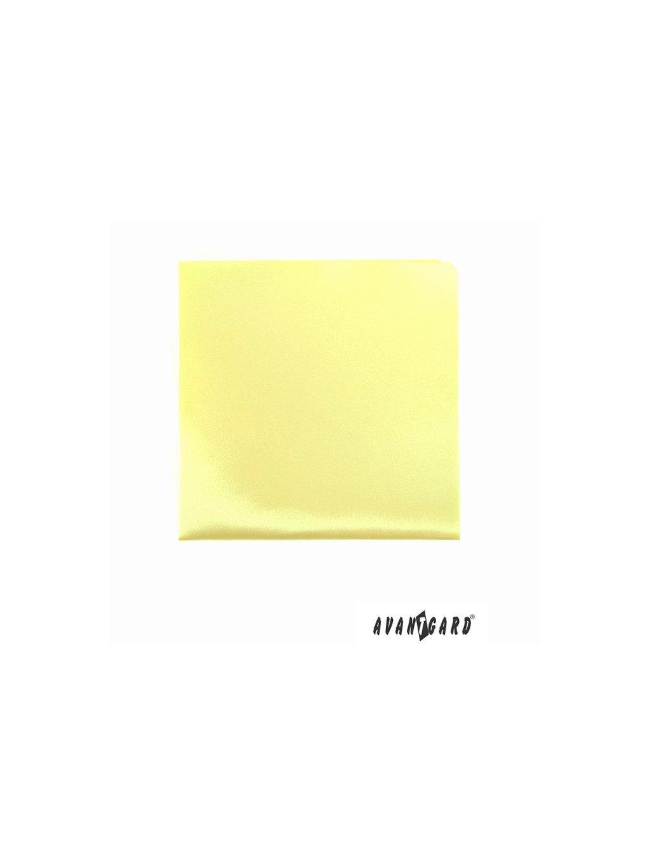 Světle žlutý kapesníček do saka