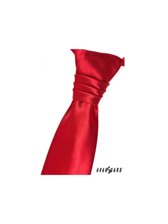 Červená dětská regata + kapesníček do saka