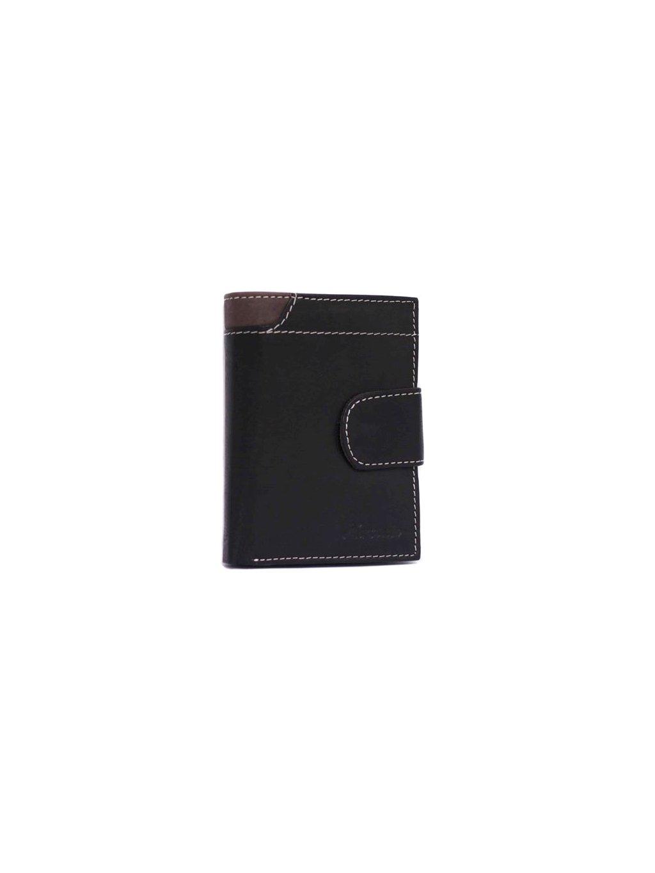 Hnědo-černá pánská kožená peněženka (2311800_blk_brn)