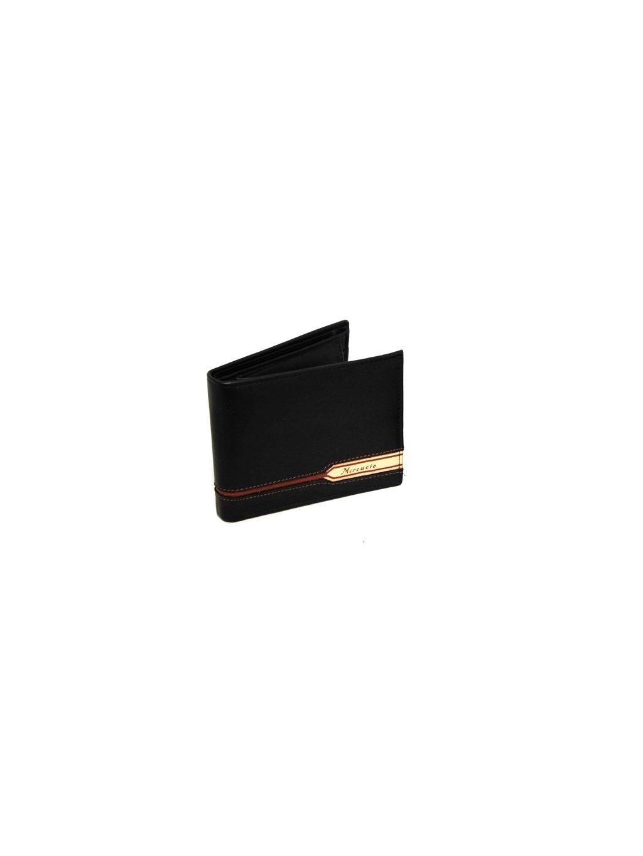 Černá kožená pánská peněženka s nápisem (2511447_black_cogn)