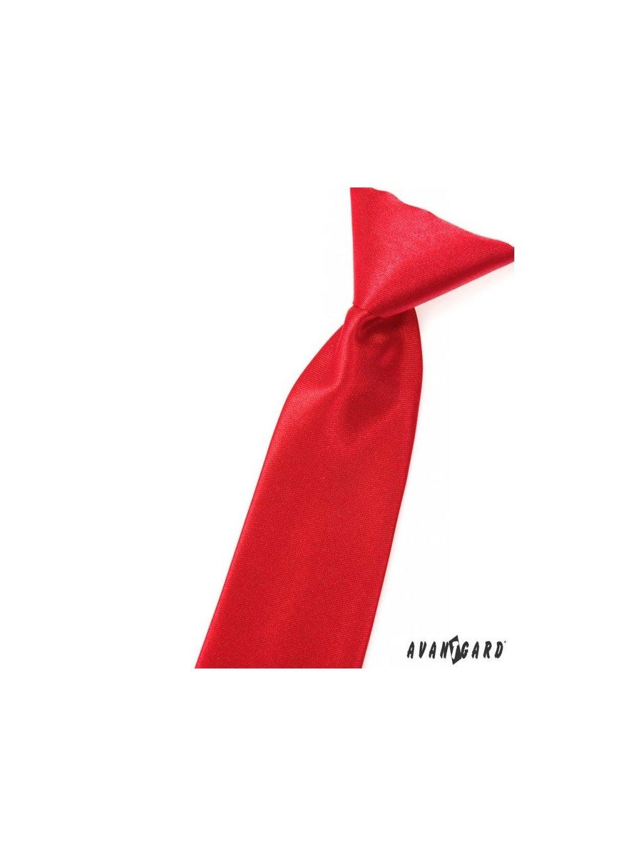 Červená dětská kravata na gumičku