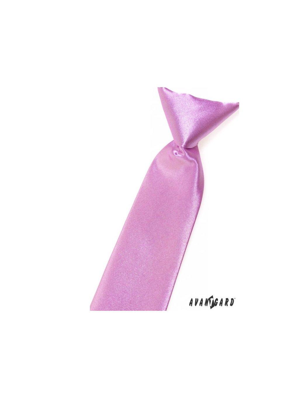 Světle fialová dětská kravata na gumičku