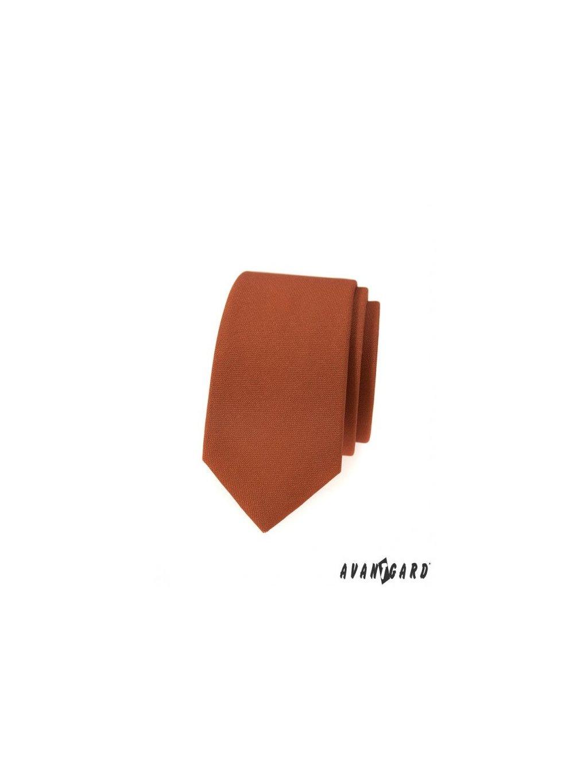 skoricove hneda slim kravata svsl9841