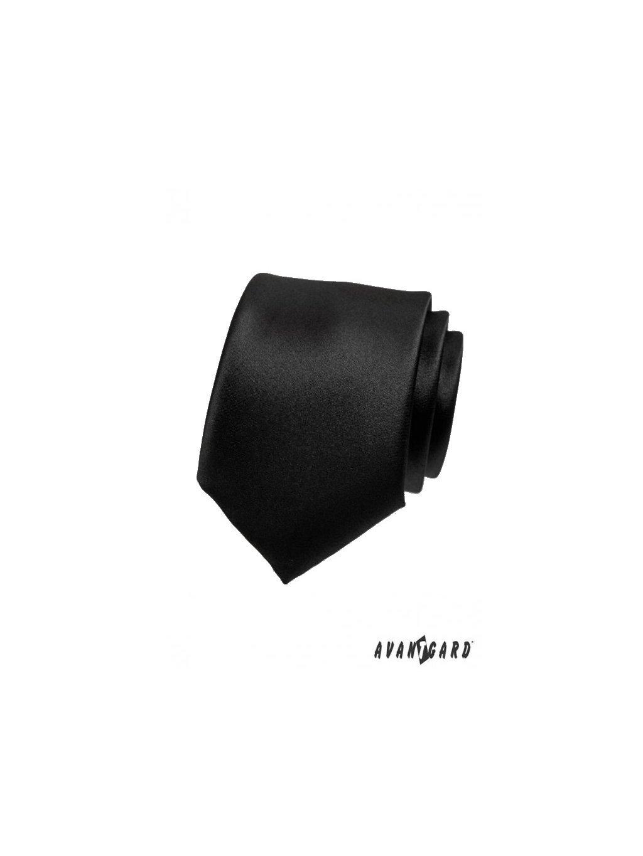 cerna velmi jemne leskla kravata av023