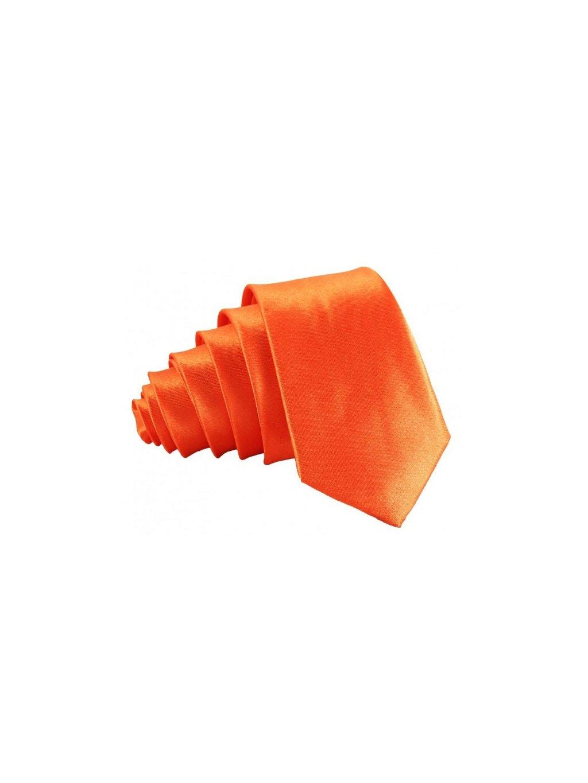 oranzova leskla kravata