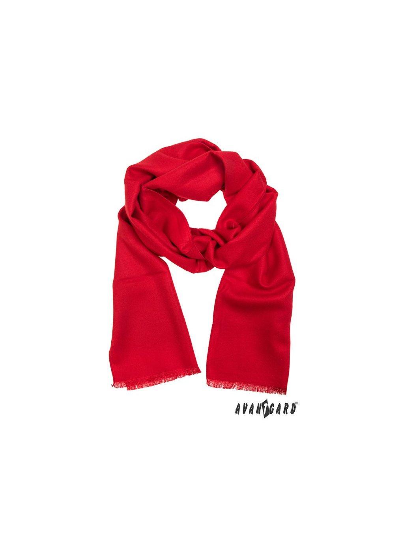 Červená pánská šála