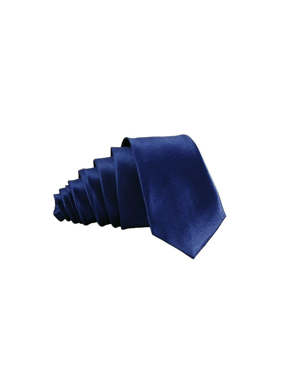 navy modra leskla kravata