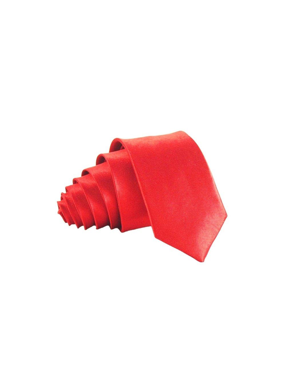 svetle cervena leskla kravata