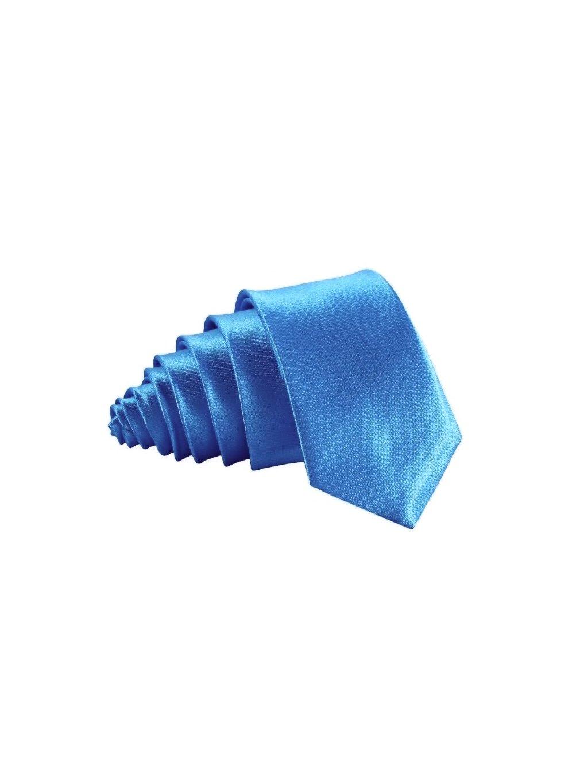 svetle syte modra slim kravata