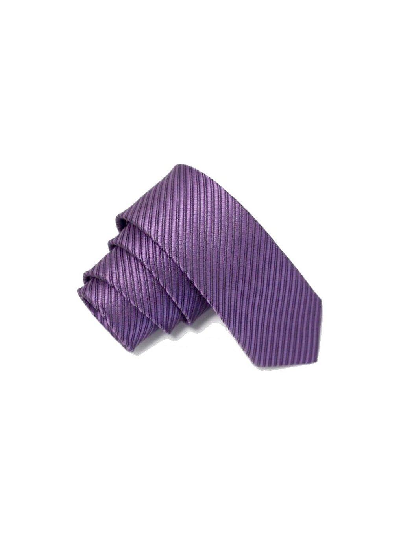 fialova slim kravata s prouzkem