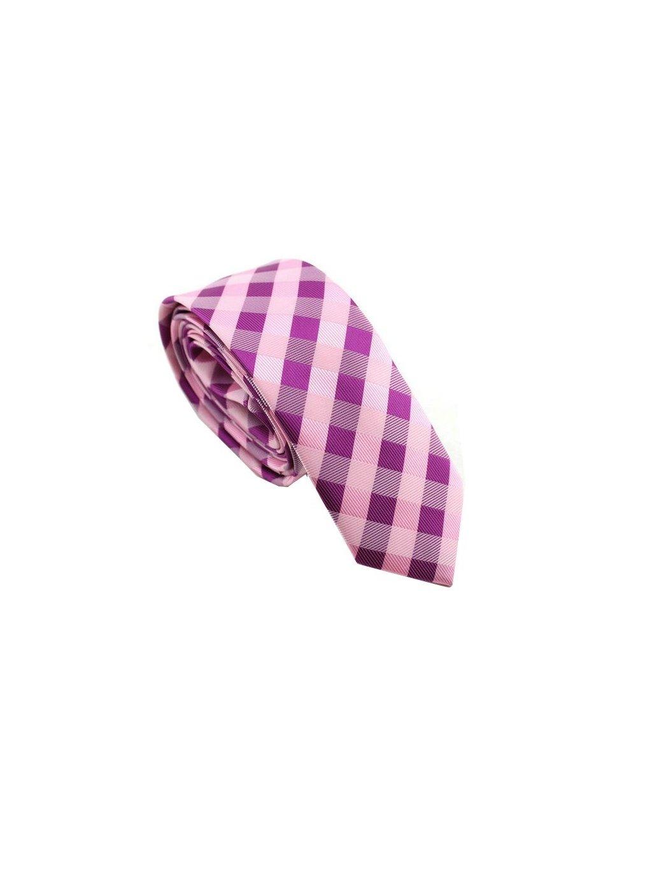 ruzova karovana kravata