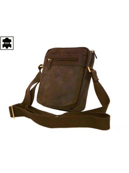Hnědá kožená pánská taška (250587)