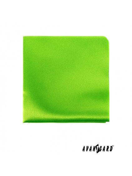 Neonově zelený kapesníček do saka